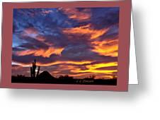 Gavilan Peak With Painted Sky Greeting Card