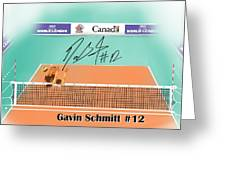 Gavin Schmitt Greeting Card by Darren Cannell