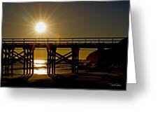 Gaviota Sunset Greeting Card
