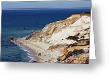 Gay Head Cliffs And Beach Greeting Card
