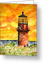 Gay Head Lighthouse Martha's Vineyard Greeting Card