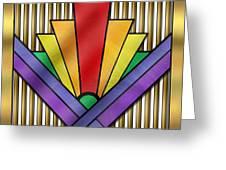 Rainbow Art Deco Greeting Card