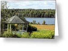 Gazebo And Caribou Lake Greeting Card