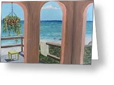 Gazebo At Blue Mountain Beach Greeting Card