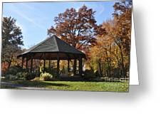 Gazebo At North Ridgeville - Autumn Greeting Card