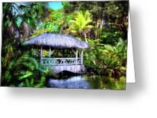 Gazebo In Paradise Greeting Card