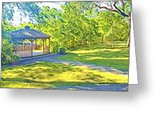 Gazebo On Onion Creek Greeting Card