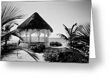 Gazebo On The Ocean Greeting Card