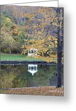 Gazebo Reflection Greeting Card