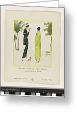 Gazette Du Bon Ton 1914   No  4  Pl  36  La Matinee De Printemps  Costumes Tailleur De Doucet  J  M Greeting Card