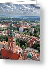 Gdansk Greeting Card by Jaroslaw Grudzinski