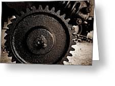 Gear And Screw Sepia 2 Greeting Card