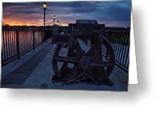 Gears At Daybreak  Greeting Card