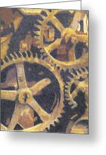 Gears Greeting Card by Ronine McIntyre