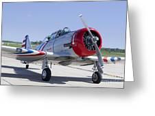 Geico Skytypers Snj-2 World War II-era Planes Greeting Card