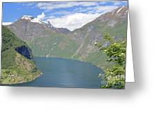Geiranger Fjord Greeting Card