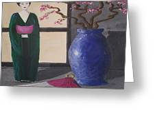 Geisha Doll Greeting Card