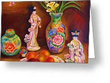 Geisha Dolls Greeting Card
