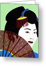 Geisha Greeting Card by Melissa Stinson-Borg