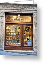 Gelateria In Assisi Greeting Card