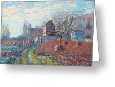 Gelee Blanche Greeting Card by Alfred Sisley