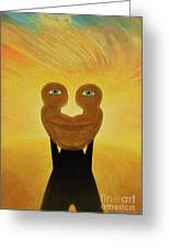 Gemini. Self-portrait Greeting Card