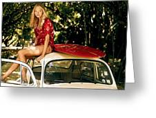 Gemma Ward Greeting Card