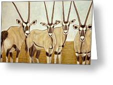 Gemsboks Or 0ryxs Triptych Greeting Card