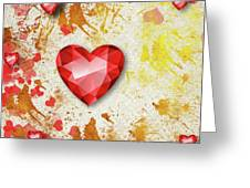 Gemstone - 7 Greeting Card