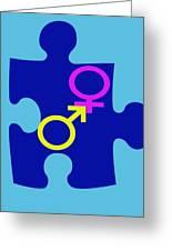 Gender Conundrum Greeting Card