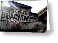 General Blacksmithing Greeting Card