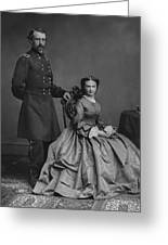 General Custer And His Wife Libbie Greeting Card