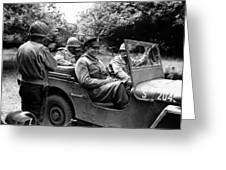 General Eisenhower In A Jeep Greeting Card