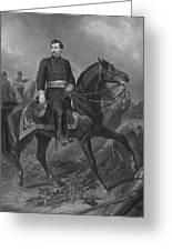 General George Mcclellan On Horseback Greeting Card by War Is Hell Store