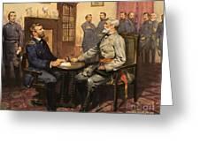 General Grant Meets Robert E Lee  Greeting Card