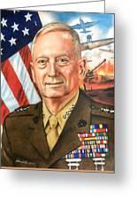 General Mattis Portrait Greeting Card