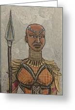 General Okoye Of The Wakandian Elite Forces   Greeting Card