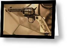 General Patton's Model 1873 Colt 45 Revolver  Greeting Card