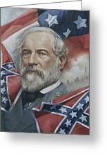 General Robert E Lee Greeting Card by Linda Eades Blackburn