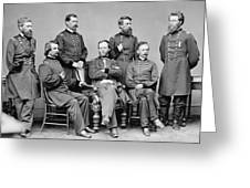General Sherman And His Staff  Greeting Card