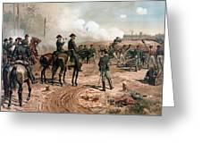 General Sherman Observing The Siege Of Atlanta Greeting Card