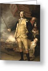 General Washington At The Battle Of Princeton Greeting Card