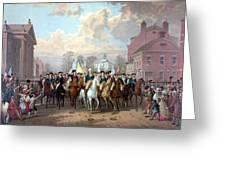 General Washington Enters New York Greeting Card