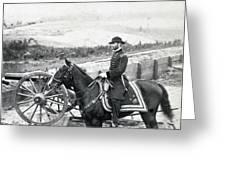General William T Sherman On Horseback - C 1864 Greeting Card