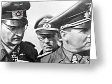Generalfeldmarschall  Erwin Rommel And Staff Number 1 North Africa 1942 Color Added 2016 Greeting Card
