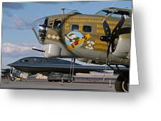 Generations B-17 And B-2 Greeting Card