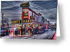 Geno's Cheesesteaks Greeting Card