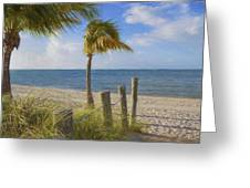 Gentle Breeze At The Beach Greeting Card