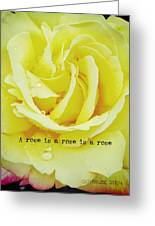 Gentle Gold Quote Greeting Card