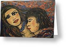 Gentle Loving Kiss Greeting Card